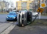 Wrocław. Zobacz zdjęcia z groźnie wyglądającego wypadku na Gądowie
