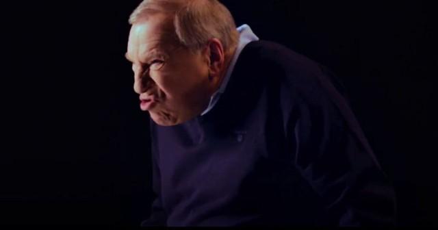 Jerzy Stuhr w kampanii reklamowej Stopklatki TV
