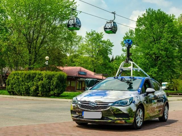 Pojazd Google widziany kilka tygodni temu w Parku Śląskim w Chorzowie.