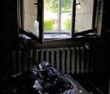 Pożar domu w powiecie radzyńskim. Dwoje 84-latków trafiło do szpitala z ciężkimi poparzeniami