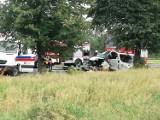 Wypadek koło Budzynia: Na pomoc przyleciały trzy śmigłowce