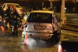 Zderzenie dwóch samochodów na Al. 23 stycznia w Grudziądzu [zdjęcia]