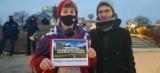 Protest przed Palmiarnią Zielonogórską w obronie praw kobiet