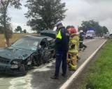 Wypadek w Gardei. Zderzyły się dwa samochody osobowe, obaj kierowcy byli trzeźwi