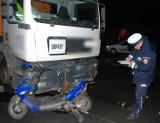 Pruszcz Gdański: Wypadek z udziałem motorowerzysty na jednym ze skrzyżowań w mieście