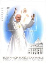 Beatyfikacja: znaczek z Janem Pawłem II