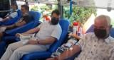 Akcja krwiodawstwa w Kaliszu przy parafii Podwyższenia Krzyża Świętego. ZDJĘCIA