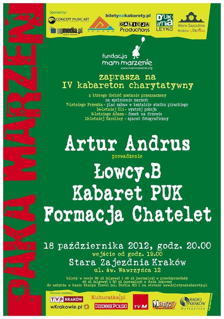 Kraków Charytatywny Kabareton Pomoże Spełnić Marzenia Dzieci