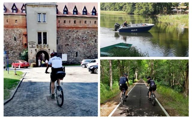 Patrole rowerowe i wodne w powiecie bytowskim