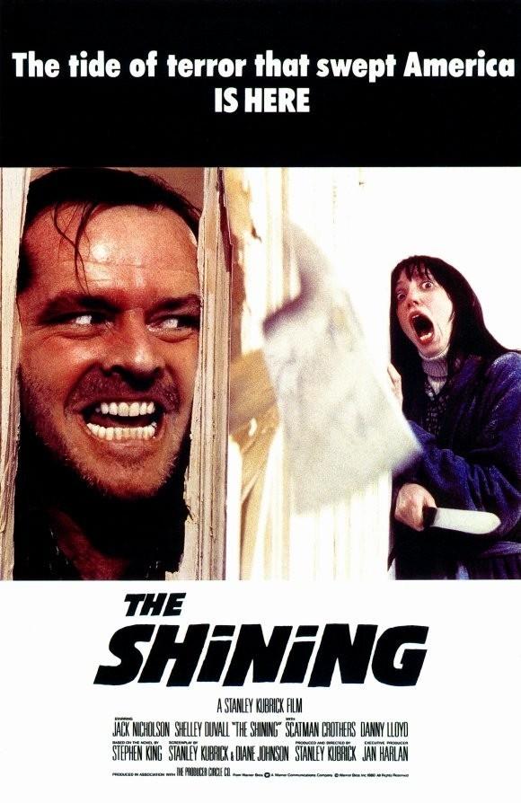 Lśnienie  Historia pisarza, Jacka Torrence'a, który chcąc w spokoju tworzyć następną książkę, zabiera rodzinę do opuszczonego hotelu. Tam jednak, powoli dostaje obłędu, a wewnętrzny głos zaczyna mu podpowiadać morderstwo. Do dziś ciężko wybrać czy lepsza była książka Stephena Kinga czy ekranizacja Stanleya Kubricka. Jedno i drugie to jednak arcydzieło!
