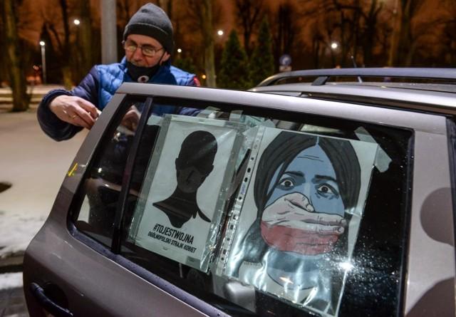 Strajk Kobiet w Trójmieście 03.02.2021r. Blokada samochodowa na ulicach Gdańska i Gdyni