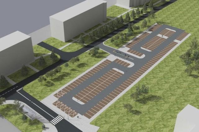 Wizualizacja parkingu w Małym Płaszowie