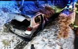 Nocą auto rozbiło się na głównej szosie łączącej Nowy Sącz z Krakowem i Tarnowem