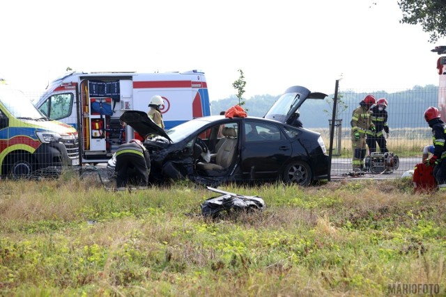 Wypadek na trasie wylotowej z Opola do Krapkowic.