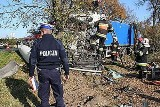 Tragiczny wypadek w Koszęcinie. Zginął młody kierowca ciężarowej scanii