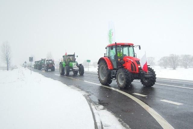 Rolnicy protestowali na trasie Łabunie-Zamość