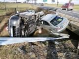Wypadek w Milejowie na dk91 przy zjeździe na Longinówkę, 27.02.2021 [ZDJĘCIA]