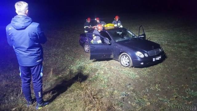 Taksówkarz został zaatakowany pod Brzegiem na drodze Pępice - Skarbimierz w marcu tego roku