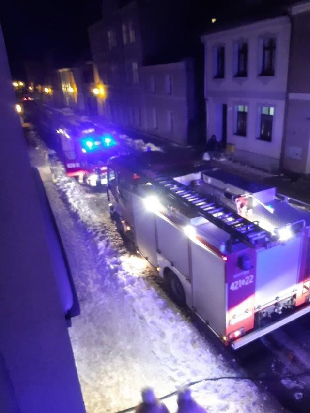 Zadymienie w Chełmnie przy ul. 22 Stycznia.