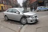 Bytom : Dwa wypadki w centrum miasta. Policja bada okoliczności