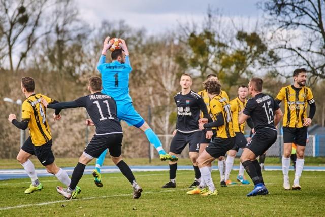 W sobotę 3 kwietnia mecz Sparta Brodnica - Unia Gniewkowo zakończył się wynikiem 0:0