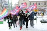 Strajk Kobiet na Placu Słowiańskim w Legnicy ZDJĘCIA