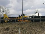 WYPADEK W ZABRZU. Zderzenie 3 samochodów osobowych. Na miejscu interweniował helikopter pogotowia ratunkowego