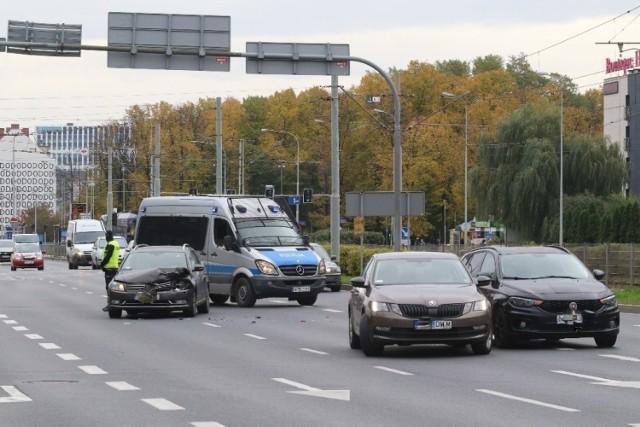 Wypadek na Legnickiej we Wrocławiu 23.10.2020