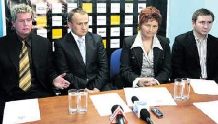 Od lewej: Mariusz Klimek, Dariusz Smagorowicz, Katarzyna Sobstyl i Mirosław Mosór.