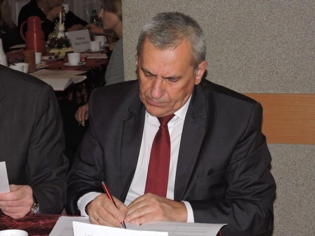 Radny Leszek Dębek