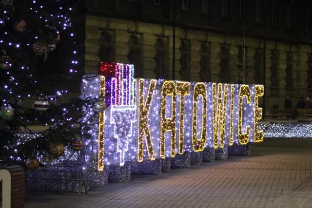 Świąteczna iluminacja Katowic w 2019 roku