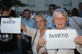 Kolejne protesty przed krotoszyńskim Sądem Rejonowym [ZDJĘCIA + FILM]