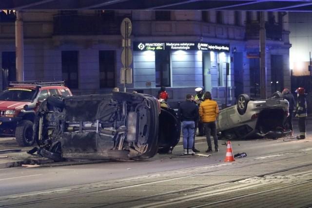 Groźny wypadek na ul. Grabiszyńskiej we Wrocławiu