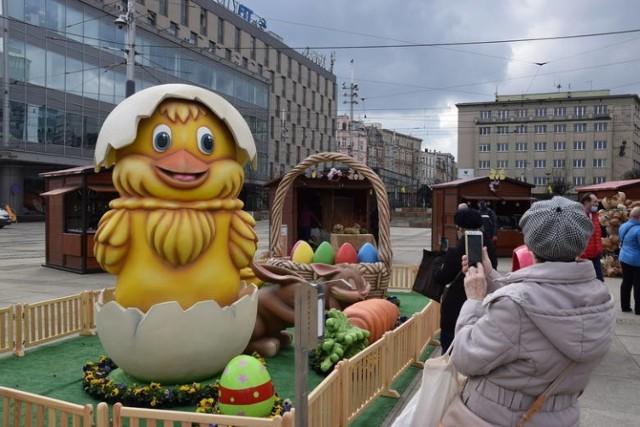 Wielkanocne dekoracje w Katowicach