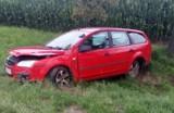 Wypadek na DK 32. Na trasie Grodzisk - Ruchocice auto wypadło z drogi
