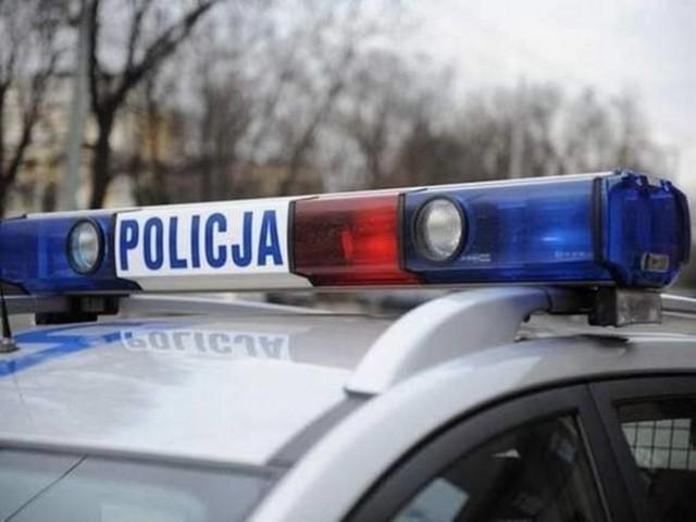 Wypadek z udziałem motocyklisty na DK nr 25 w Kruszynie Krajeńskim niedaleko Bydgoszczy