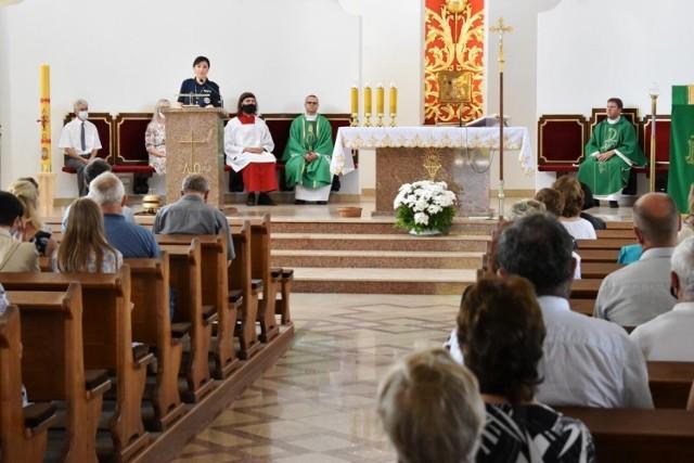 Policjantka z Lipna spotkała się w wiernym w skępskim kościele, apelowała o bezpieczeństwo na drodze