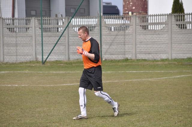 Robert Bilski, bramkarz Łysicy Bodzentyn był zaporą nie do przejścia dla piłkarzy Zdroju Busko.
