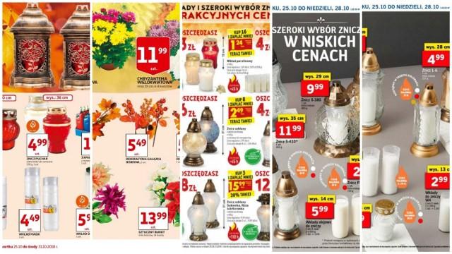 Ceny zniczy w Biedronce, Lidlu, Auchan i Tesco