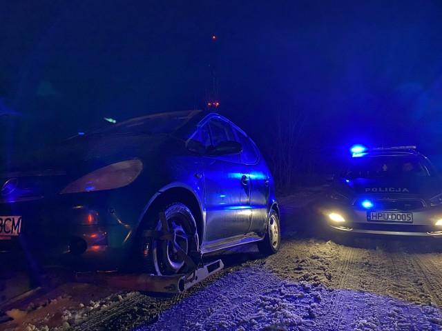 Policyjny pościg ulicami Piły za kierowcą mercedesa