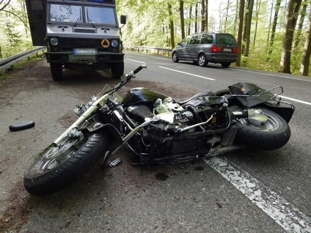 Wypadek na trasie Słupsk - Ustka