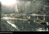 Pieniny. Tak dawniej wyglądał spływ Przełomem Dunajca. Unikatowe zdjęcia w kolorze 4.08.2021
