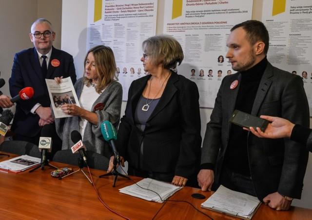 """Luty 2019 r. Przedstawiciele stowarzyszeń """"Wszystko dla Gdańska"""" oraz """"Lepszy Gdańsk"""" potwierdzają porozumienie w sprawie realizacji uzgodnionych postulatów."""