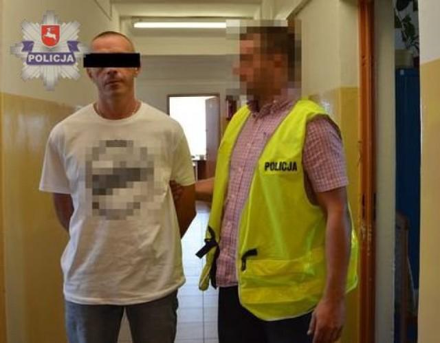 39-letni mieszkaniec województwa podlaskiego wraz z 29-latką z powiatu janowskiego zostali zatrzymani w gminie Frampol