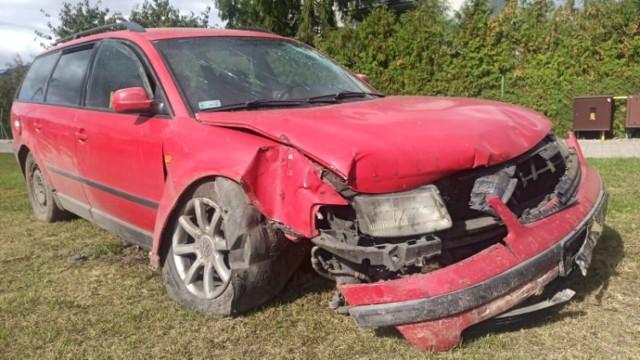 26-letni kierowca uderzył w ogrodzenie na ul. Brzozowej w Grudziądzu