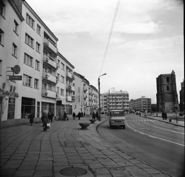 Nysa z lat 70. Rynek miasta.