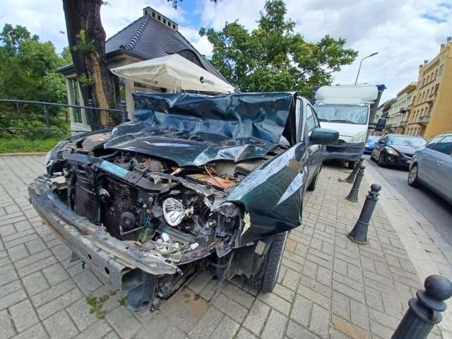 Wypadek na Podwalu we Wrocławiu 6.08.2021