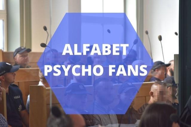 """Alfabet Psycho Fans - najważniejsze fakty dotyczące zorganizowanej grupy przestępczej kiboli Ruchu Chorzów  Zobacz kolejne plansze. Przesuwaj zdjęcia w prawo - naciśnij strzałkę lub przycisk """"NASTĘPNE"""""""