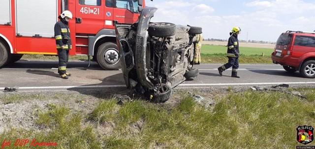 W Gocanowie (gmina Kruszwica) na drodze krajowej nr 62 doszło do wypadku. Dwie osoby trafiły do szpitala.