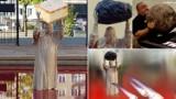 Dziwny pomnik papieża w Warszawie doczekał się już wielu przeróbek. Jan Paweł II z głazem rozbawił internautów. Jak Pudzianowski! MEMY 27.09